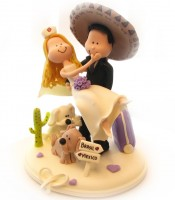 wedding cake topper mexico noivinho mexicano